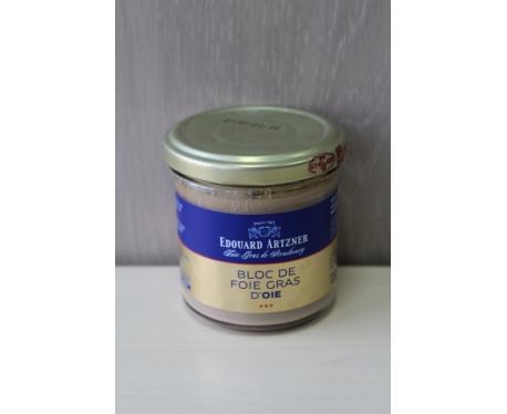 Bocal de bloc de foie gras d'oie 120g