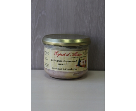 Bocal de foie gras de canard mi-cuit EA 180g