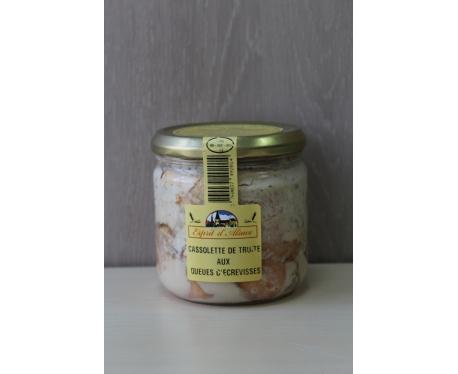 Bocal de cassolette de truite aux queues d'écrevisses Esprit d'Alsace 350g