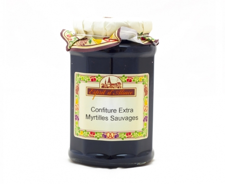 Confiture extra de myrtilles sauvages - 325g (55% de fruits)