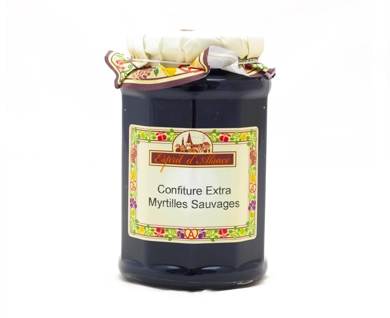 Confiture extra de myrtilles sauvages 325g