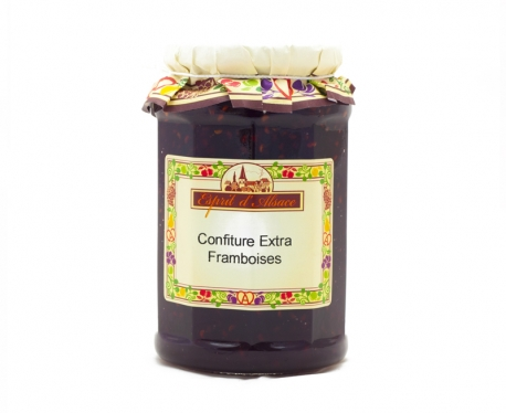 Confiture extra de framboises - 325g (55% de fruits)