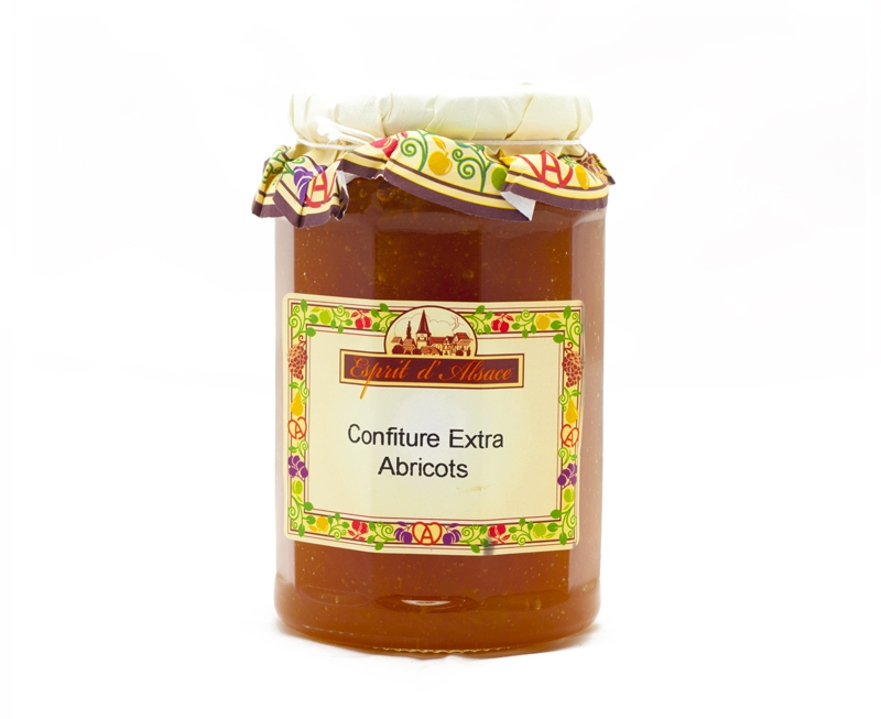 Confiture extra d'abricots - 325g (55% de fruits)