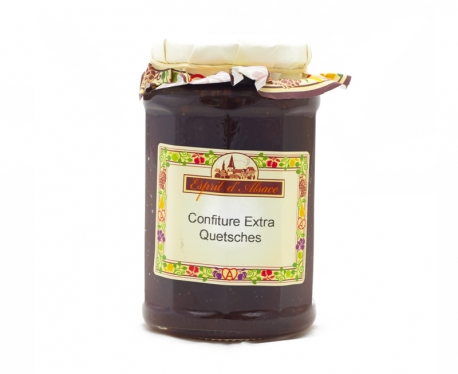 Confiture extra de quetsches - 325g (55% de fruits)