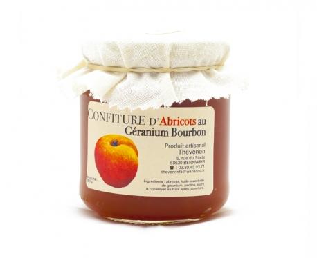 Confiture artisanale d'abricot au géranium bourbon