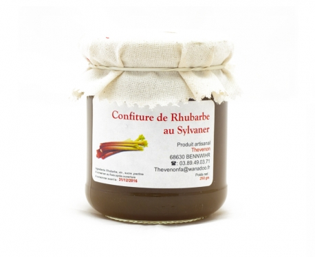 Confiture de Rhubarbe au sylvaner - 250g