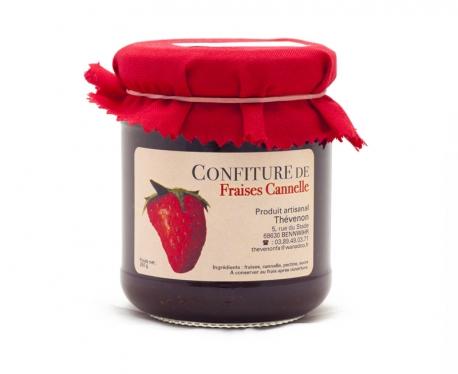 Confiture artisanale de fraise à la cannelle