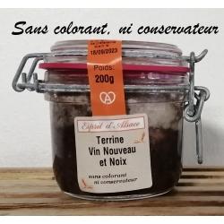 Terrine au vin nouveau et au noix Esprit d'Alsace 200g