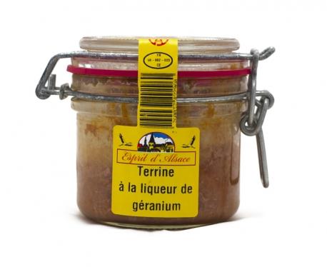 Terrine à la liqueur de géranium Esprit d'Alsace 200g
