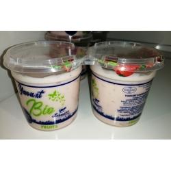 Lot de 2 yaourts BIO à la framboise Fromagerie Lehmann