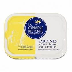 Sardines à l'huile d'olive et au citron BIO 115g
