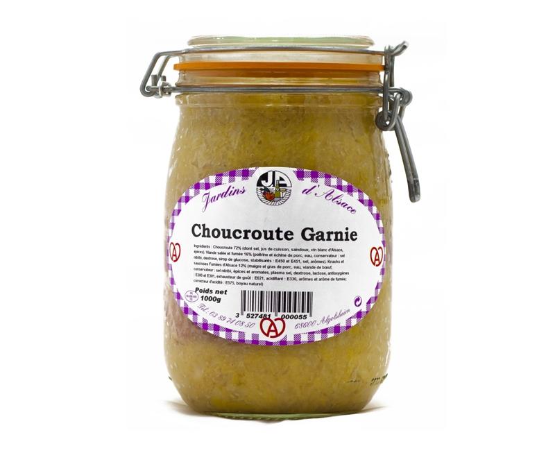 Choucroute garnie -Bocal 1 kg