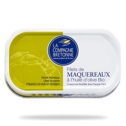 Filets de maquereaux à l'huile d'olive BIO 113g